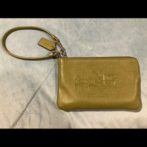 COACH embossed wristlet w/ dustbag
